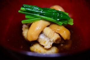 秋鱧と松茸の治部煮