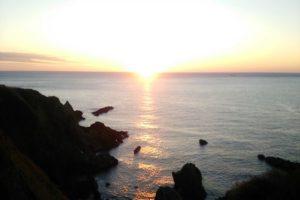 晴天の夕陽