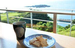 日本海(男鹿半島)を一望