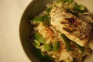 鱈と長葱の御飯