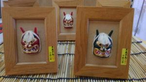 彫師「石川千秋」による手作りのお面