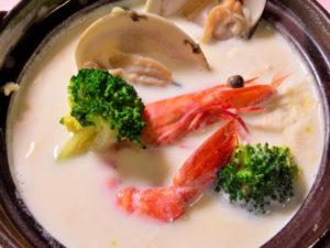 小蛤の豆乳鍋