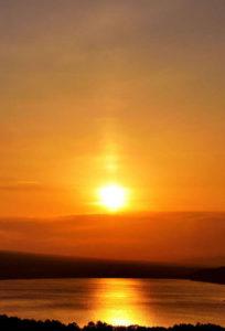 夕陽の道1